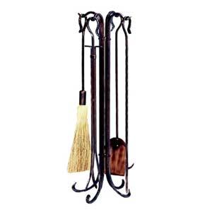Five-Piece Antique Copper Hammered Crook Tool Set
