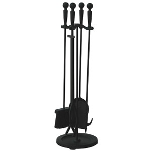 Black 30-Inch High Five-Piece Fireset