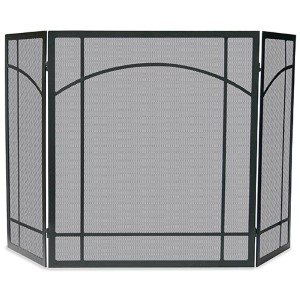 Black Tri-Fold Wrought Iron Mission Screen