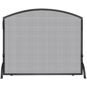 Black Arched Small Single Panel Screen