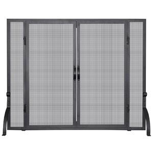 Black 31-Inch High Single Panel Screen with Doors