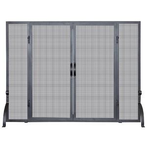 Black 33-Inch High Single Panel Screen with Doors