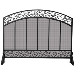 Black Arched Single Panel Screen