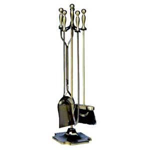 Five-Piece Antique Brass Tool Set