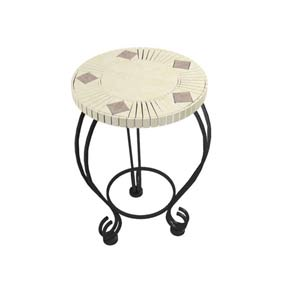 Mosaic Ceramic Tile 18-Inch Outdoor Table
