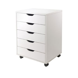 Halifax Cabinet for Closet / Office, Five Drawers, White