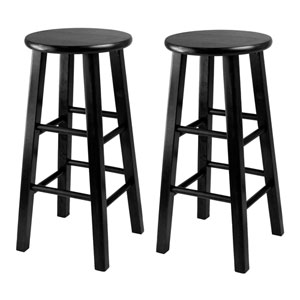Counter Stool, 24 Inch Square Leg Stools, Set of Two