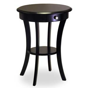 Black Wooden Accent Table