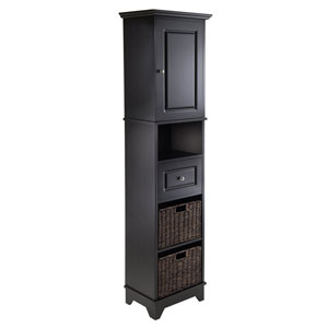 Wyatt Tall Cabinet with Baskets, Drawer, Door