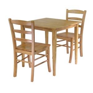 Groveland Three-Piece Light Oak Square Dining Set