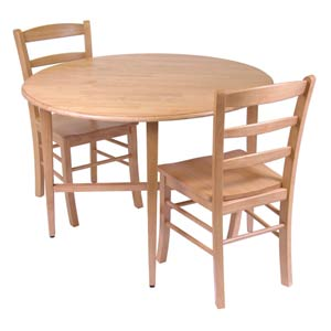 Light Oak 3-Piece Dining Kitchen Set