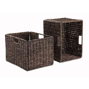 Granville Foldable 2-Piece Tall Baskets Corn Husk
