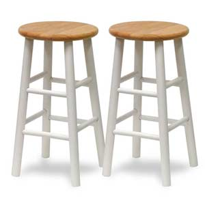 24-Inch Barstool, Set of Two
