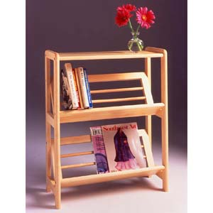 Natural Two-Tier Tilt Shelf