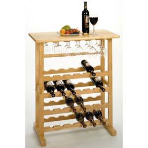 Natural Twenty-Four Bottle Wine Rack