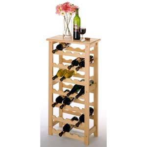 Twenty-Eight Bottle Natural Wine Rack