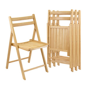 Folding Chairs, Set of Four