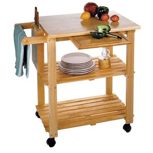 Natural Kitchen Utility Cart