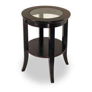 Genoa Round Glass Inset End Table