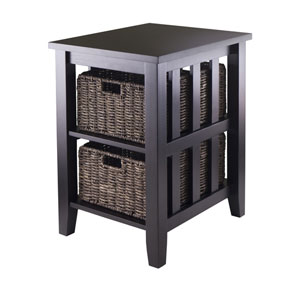 Morris Side Table with Two Foldable Baskets