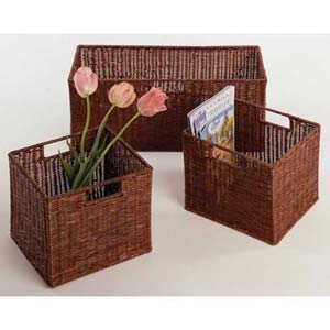 Espresso Storage Baskets, Set of Three