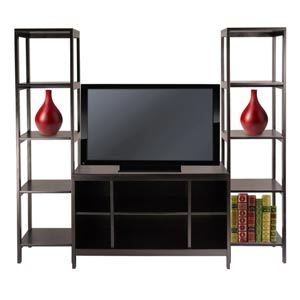 Hailey Three-Piece TV Stand and Shelf