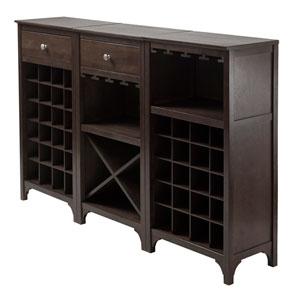 Ancona 3-Piece Modular Wine Cabinet  Set
