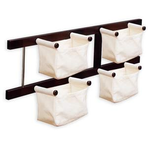 Storage / Magazine Rack with Canvas Bags
