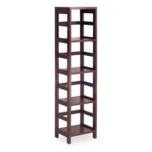 Espresso Four-Section Shelf