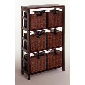 7-Piece Storage Shelf with 6 Baskets