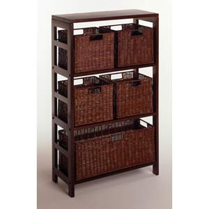 6-Piece Storage Shelf with Baskets