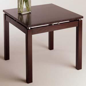 Linea Espresso Wood End Table