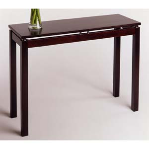 Linea Espresso Wood Console Table