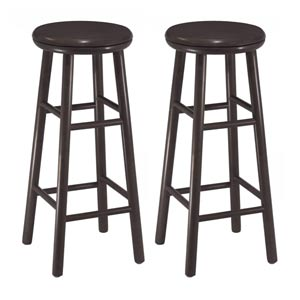 30-Inch Swivel Bar Stools, Set of Two
