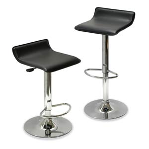 Air Lift Adjustable Stool, 2-Piece set