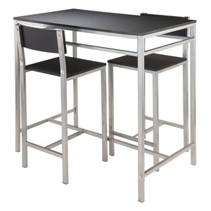 Hanley 3-Piece High Table with 2 High Back Stools