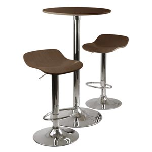 Kallie Three-Piece Cappuccino Pub Table and Stools Set