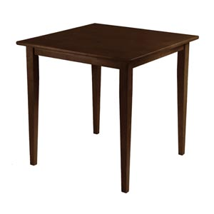 Groveland Antique Walnut Square Dining Table with Shaker Leg