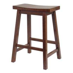 Kitchen  Stool, 24-Inch, Saddle Seat, RTA