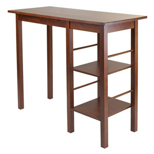 Egan Breakfast Table with 2 Side Shelves
