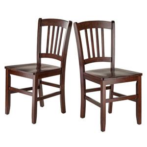 Madison 2-Piece Set Slat Back Chairs