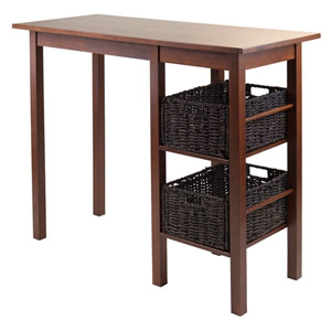 Egan 3-Piece Breakfast Table with 2 Baskets Set