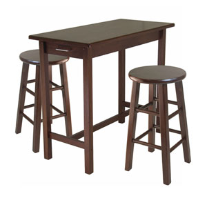 Sally 3-Piece Breakfast Table Set with 2 Square Leg Stools