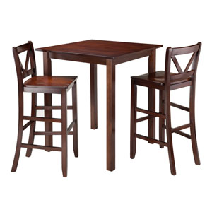 Parkland 3-Piece High Table with 2 Bar V-Back Stools