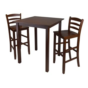 Parkland Three-Piece High Table with 29-Inch Ladder Back Stool