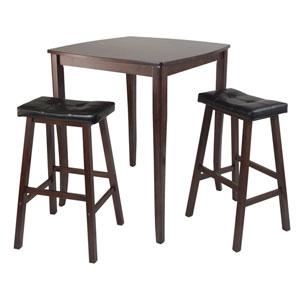 Inglewood Pub Dining Table w/ Cushioned Saddle Stool