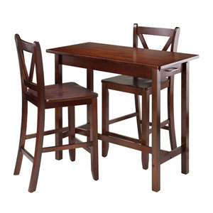 Sally 3-Piece Breakfast Table Set with 2 V-Back Stool