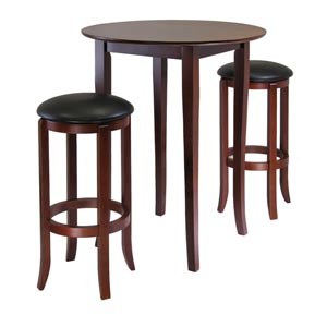 Fiona Round Three-Piece Pub Table Set