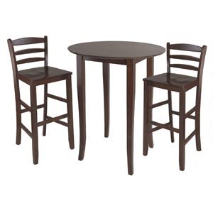Fiona Three-Piece High Round Table with Ladder Back Stool
