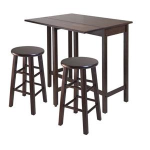 Lynnwood Drop Leaf Island Table w/ Two Square Legs Stool Walnut